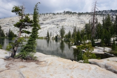 View of Sunrise Lakes along Clouds Rest Trail