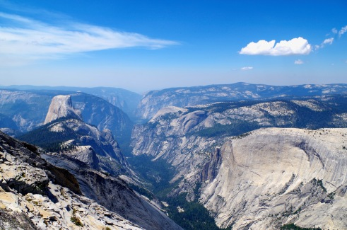 View of Yosemite Valley from the top of Clouds Rest