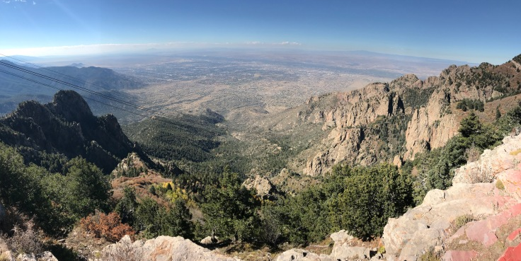 View of Albuquerque from top of Sandia Tram