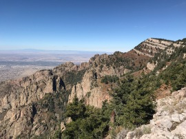 View of Sandia shelf