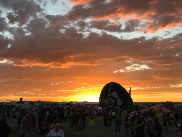 Sunset at the Balloon Fiesta Park
