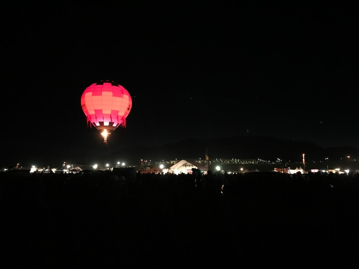 The first balloon in the Dawn Patrol takes off!