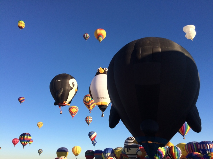 Penguin balloons in the Mass Ascension