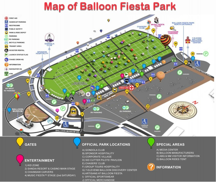 Map of the Balloon Fiesta Park area (from balloonfiesta.com)