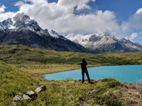 Amazing view of the mountains in Torres del Paine National Park