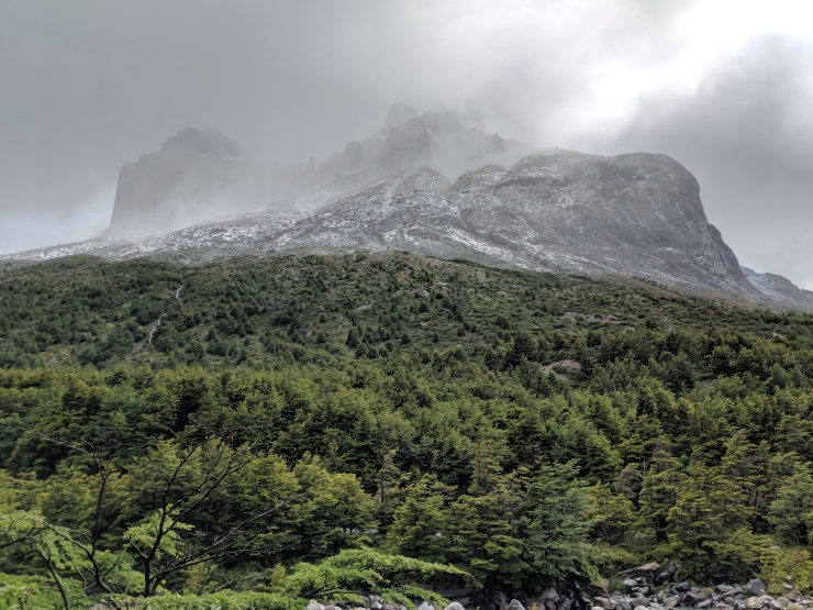 As you approach Campamento Italiano, you get your first up close views of the Cuernos mountains.