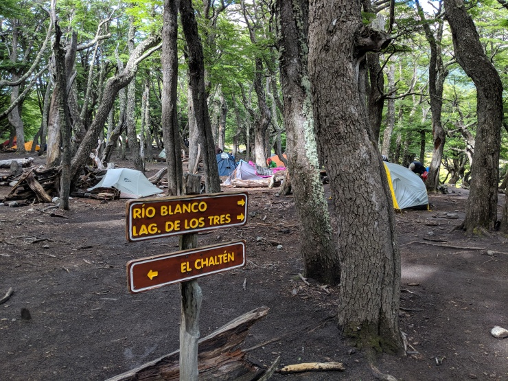 After hiking a bit through a forest, you reach the Poincenot campsite