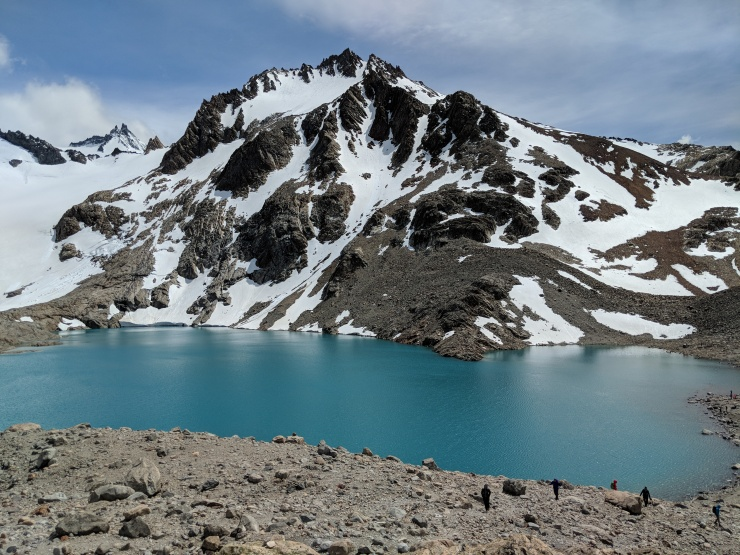 Looking across the Laguna de Los Tres