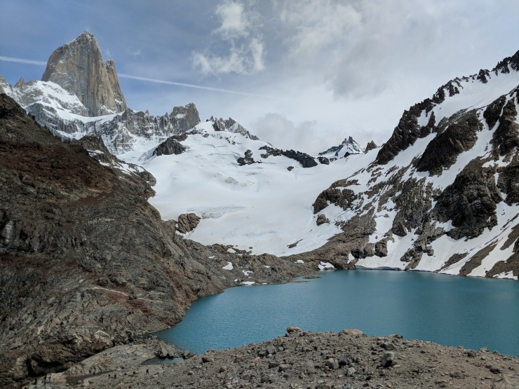 Another view of the Laguna de Los Tres and Mount Fitz Roy