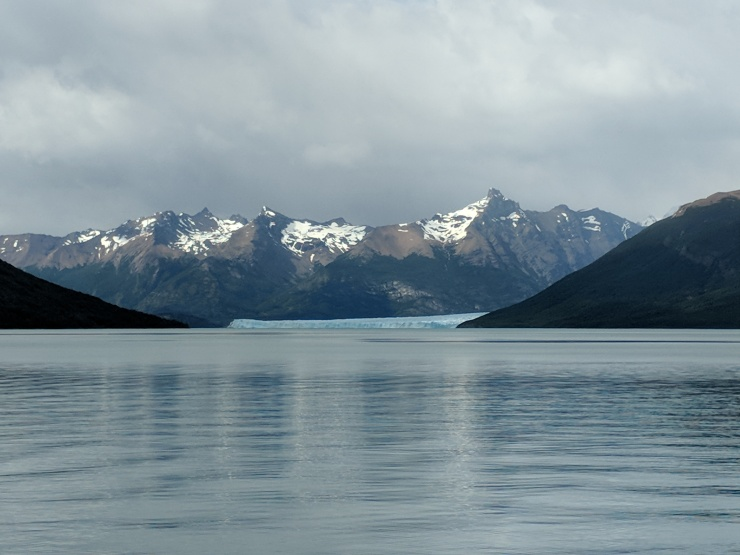 Eventually we got our first view of the Perito Moreno Glacier far in the distance.