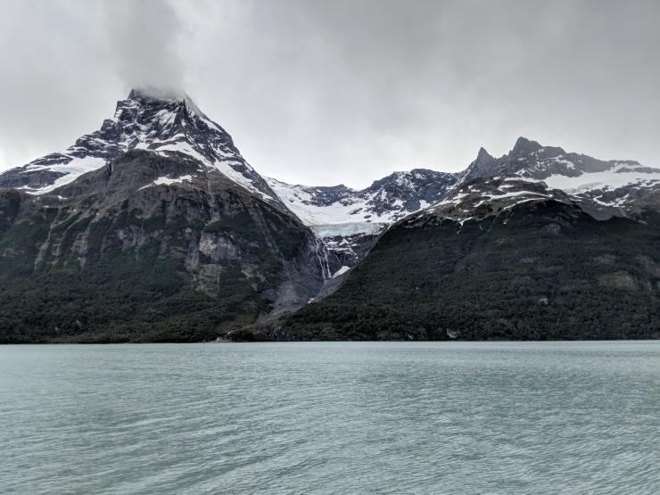 A hanging glacier on Cerro Mayo