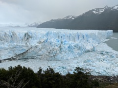 A view of the face of the Perito Moreno glacier that our boat went up to