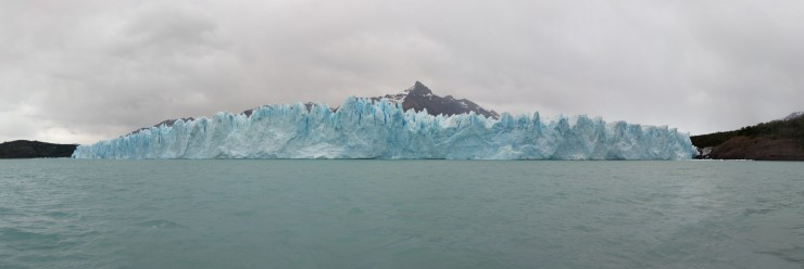 We then reached the face of the impressive Perito Moreno Glacier