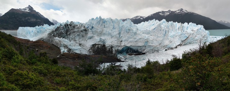 Another panoramic of the Perito Moreno Glacier from the lowest observation deck