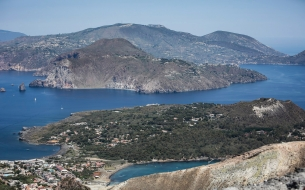 View of Lipari from Vulcano.