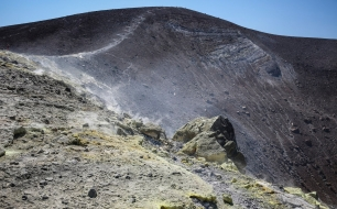 Crater on Vulcano.