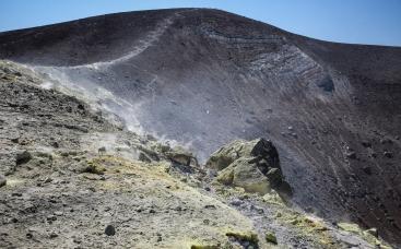 Crater on Vulcano.