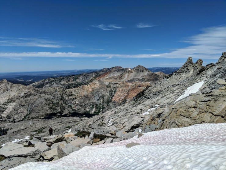Desolation-wilderness-twin-lakes-climbing-down-from-mount-price