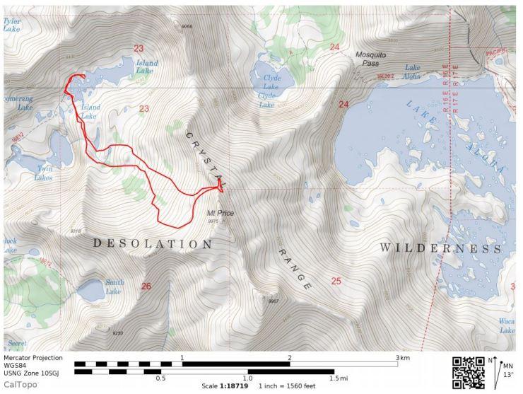 Desolation Wilderness – Twin Lakes, Island Lake, Lake Aloha (12 mile on