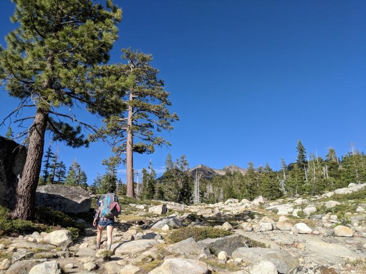 Desolation-wilderness-twin-lakes-trail-on-granite