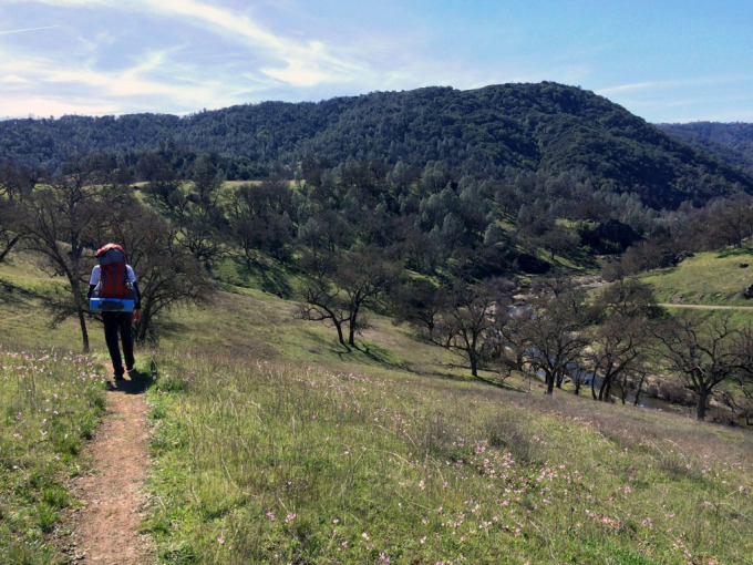 Henry-coe-backpacking-mississippi-willow-ridge-descent-to-narrows