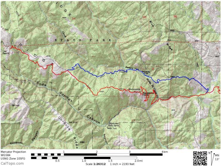 Henry-coe-mississippi-lake-west-hike-map