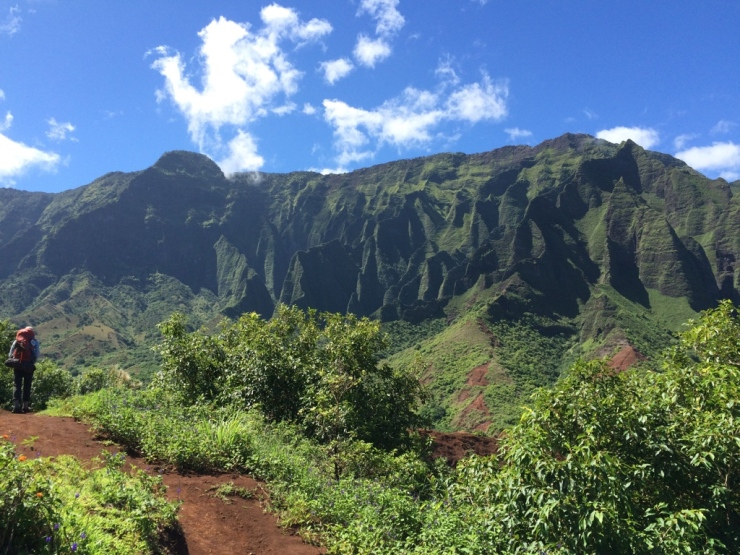 Kalalau-trail-backpacking-admiring-napali-view
