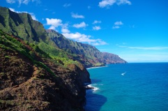 The trail continues along the coast and you get great views of the Napali Coastline.