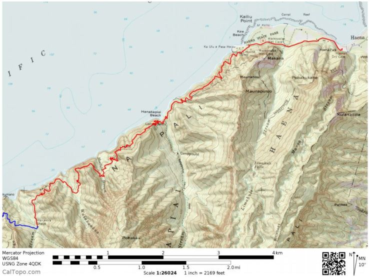 Kalalau-trail-backpacking-day-1-map