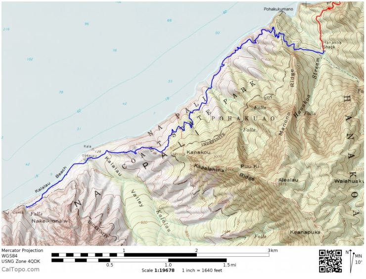 Kalalau-trail-backpacking-day-2-map