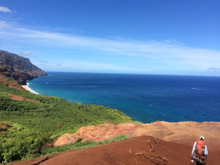 Kalalau-trail-backpacking-red-hill-beach-background