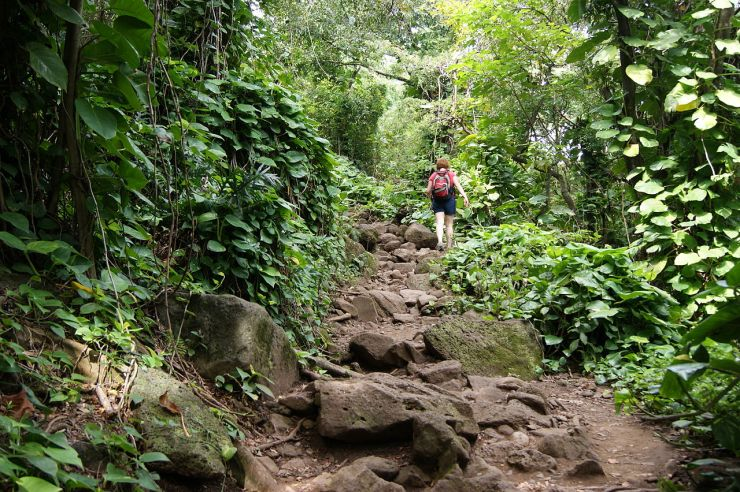 Kalalau-trail-backpacking-rocky-steps-at-start
