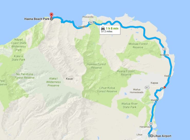Kalalau-trail-map-lihue-airport-to-haena-campsite