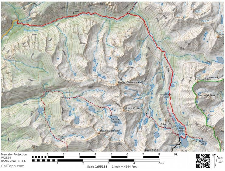 kings-canyon-rae-lakes-loop-Day-3-map