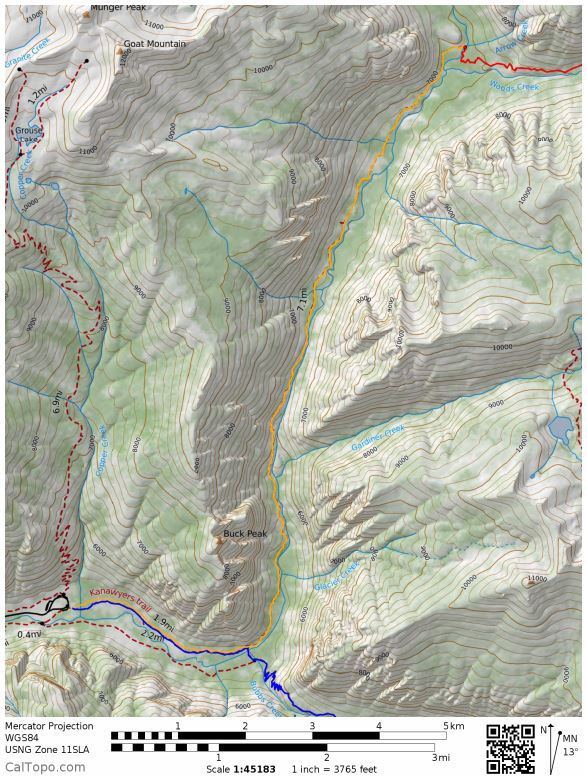 kings-canyon-rae-lakes-loop-Day-4-map