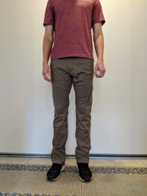 prAna Zion Straight Fit pants front