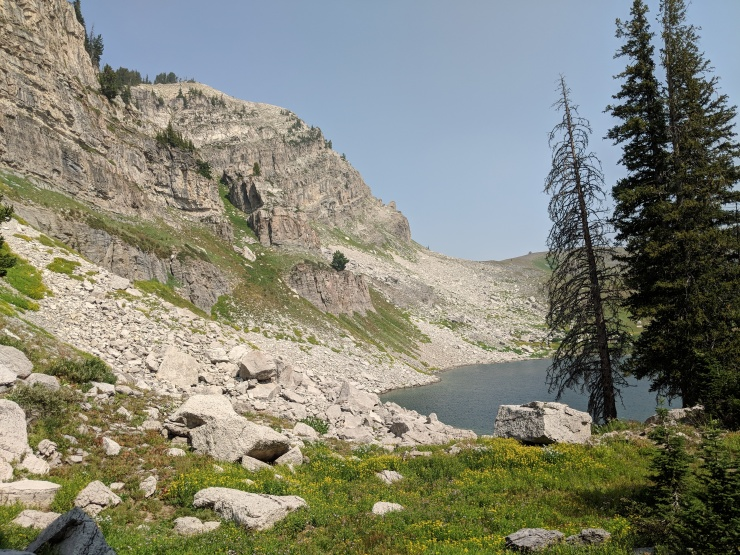 Teton-crest-trail-backpacking-first-view-marion-lake