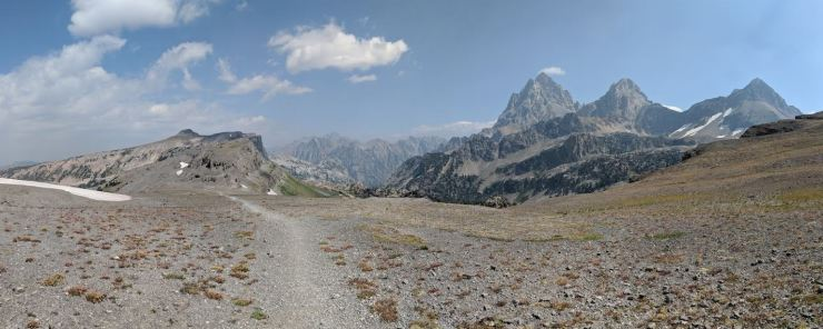 Teton-crest-trail-backpacking-first-view-top-of-hurricane-pass
