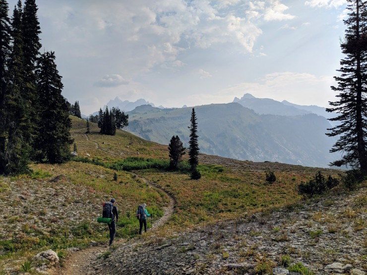 Teton-crest-trail-backpacking-leaving-death-canyon-shelf