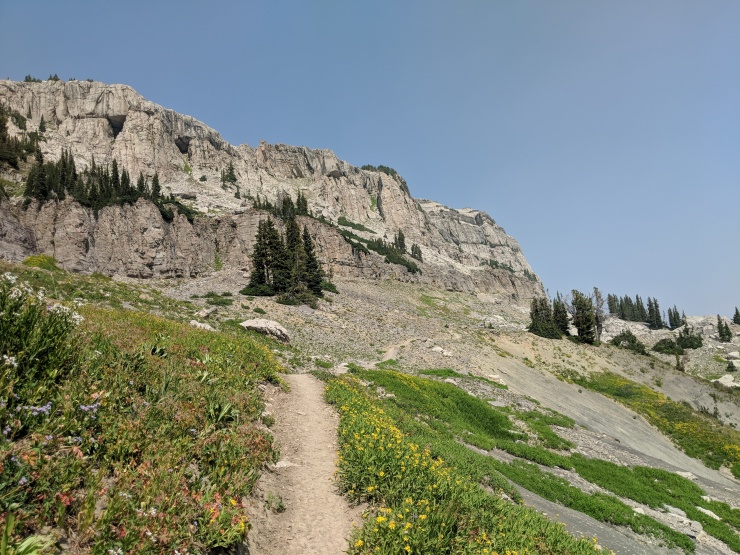 Teton-crest-trail-backpacking-past-fox-creek-pass-towards-death-canyon-shelf