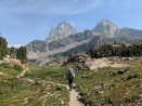 The Teton Crest Trail then works its way through the South Fork Cascade Canyon. There are some truly amazing views in this section of the hike. Grand Teton and Middle Teton as viewed from the Teton Crest Trail