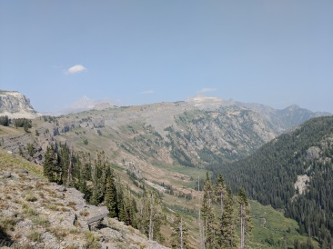 Along the Teton Crest Trail on Death Canyon Shelf be sure to head over to the edge of the shelf to take in the views of Death Canyon below.