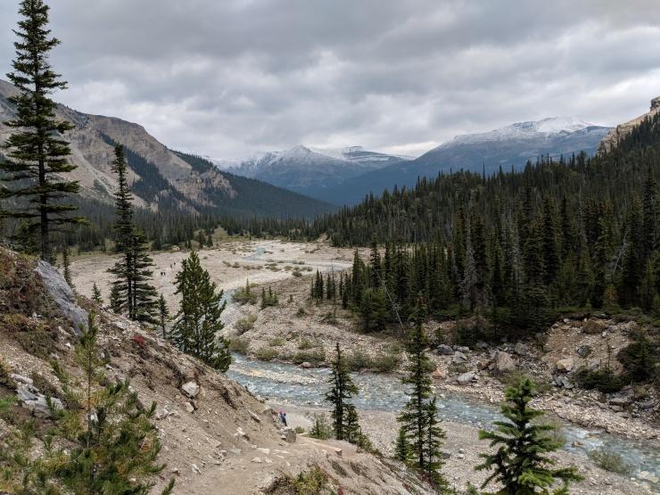 banff-bow-glacier-falls-hike-looking-back-towards-bow-lake