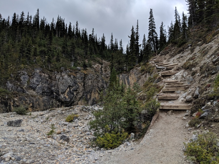banff-bow-glacier-falls-hike-steps-to-viewpoint