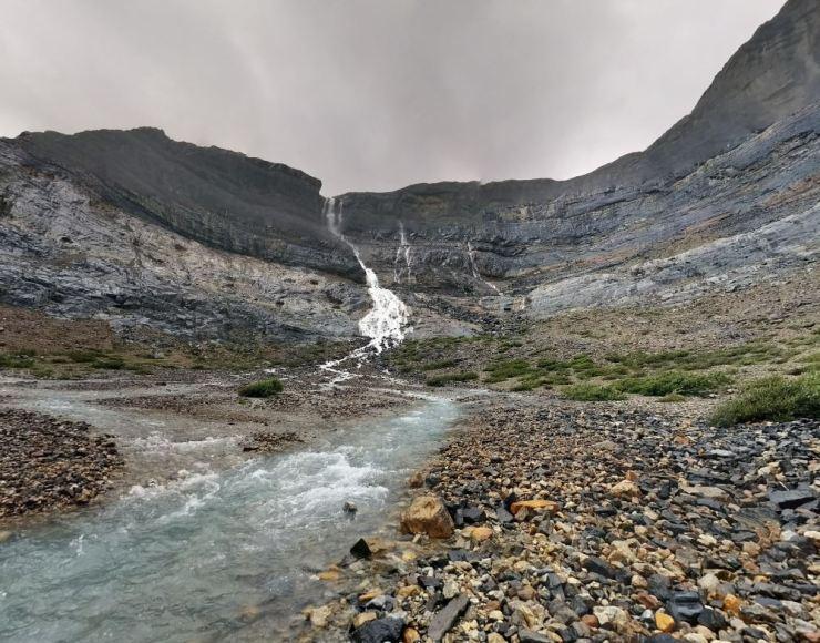 basin-beneath-bow-glacier-falls