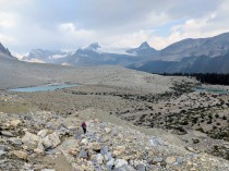 Descending from the Iceline Summit and hiking towards two more lakes along the trail.