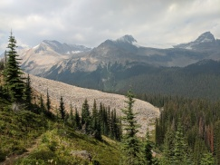 View looking across Little Yoho Valley.