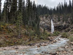 View of Laughing Falls near the Yoho River.
