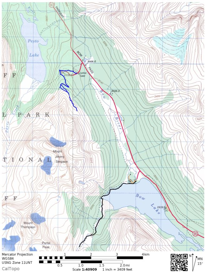 Overall-map-peyto-lake-and-bow-summit-lookout