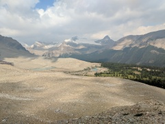 View from the Iceline Summit looking North towards Little Yoho Valley.